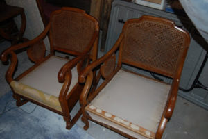 French Chairs Before and After (sold)