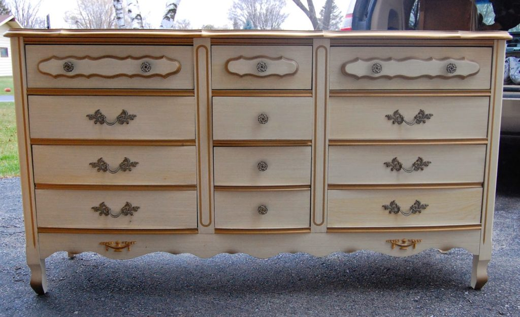 French Provincial Bedroom Set Before & After - Lily Field Co.