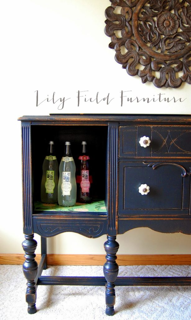Tremendous Antique Buffet Redo With Country Chic Paints Lily Field Co Download Free Architecture Designs Embacsunscenecom