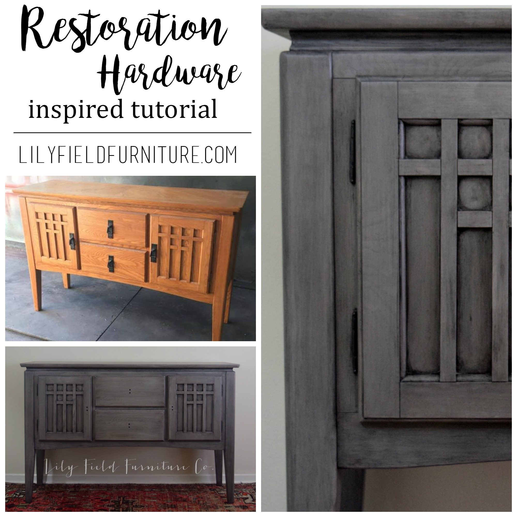 Dining Chairs Watchthetrailerfo Restoration Hardware Inspired Buffet Lily Field Co Diy Tutorial