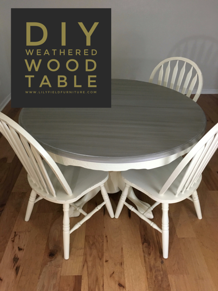 Diy Weathered Wood Table Plus A 250 Giveaway Lily