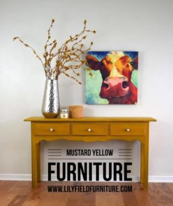 Yellow Painted Furniture: adding color to your space
