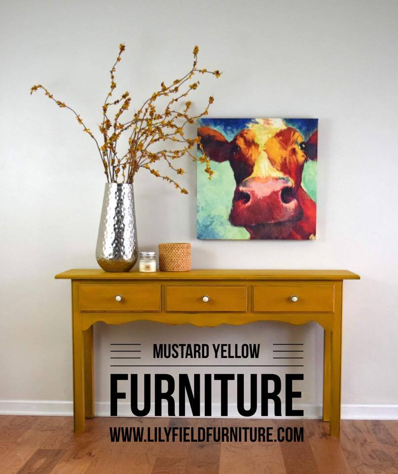 Mustard Yellow Painted Furniture