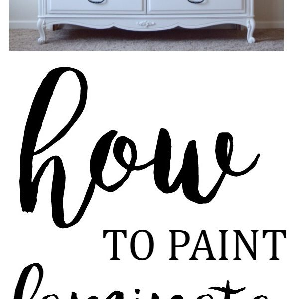 Painting Laminate Furniture: DIY Tutorial