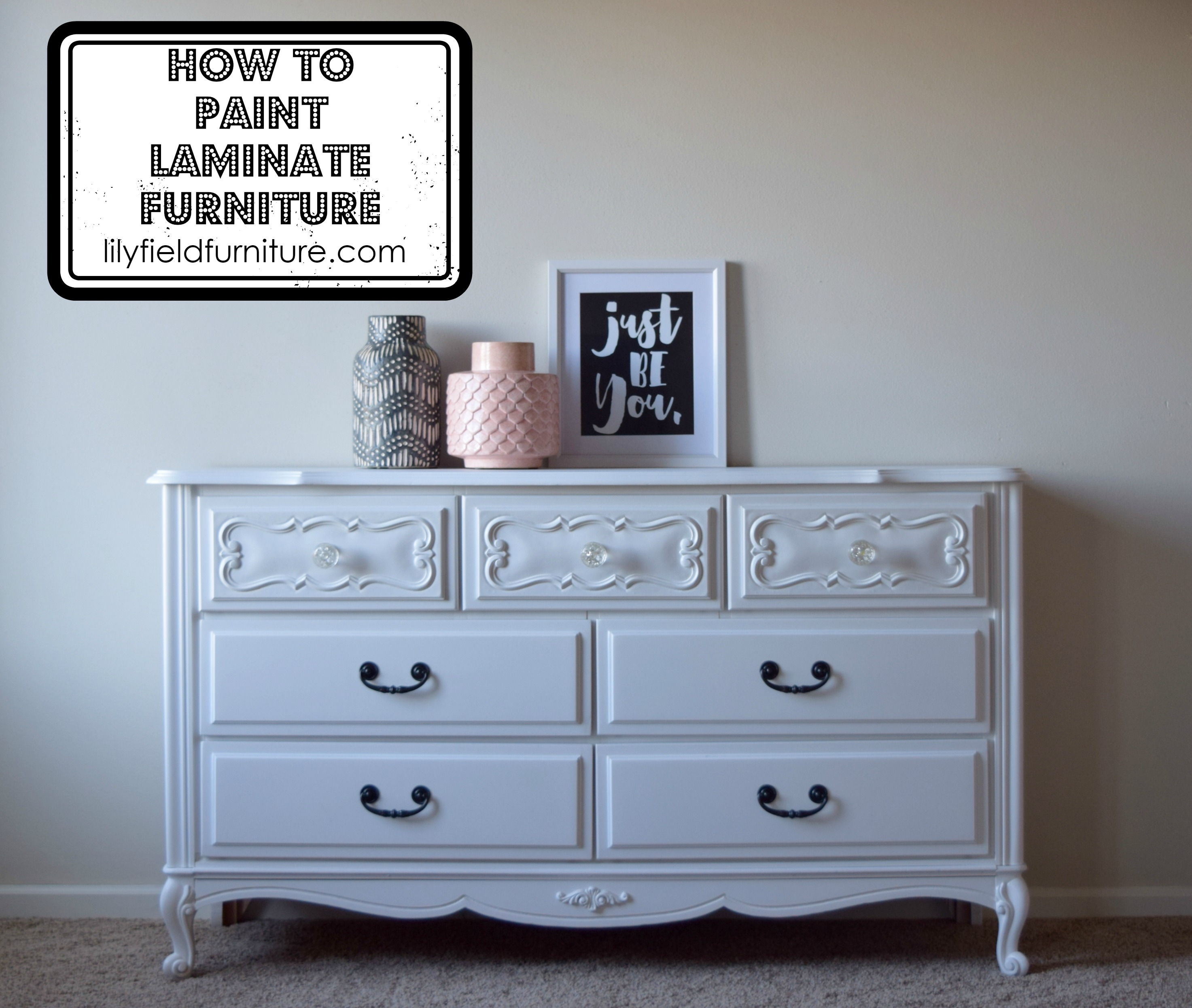 Painting Laminate Furniture Diy Tutorial Lily Field Co