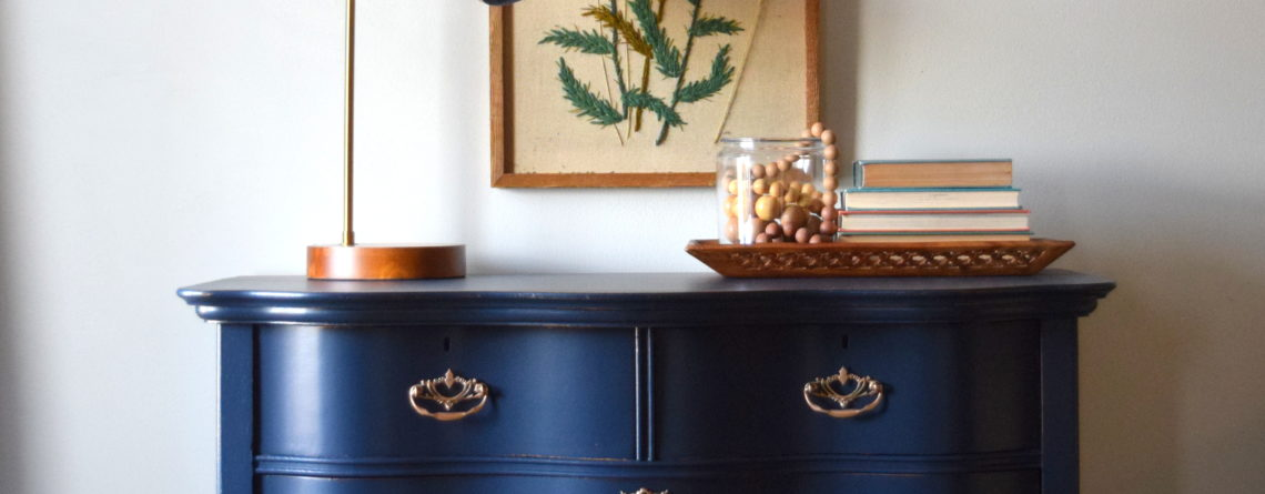 Navy Dresser Makeover- Fusion Midnight Blue