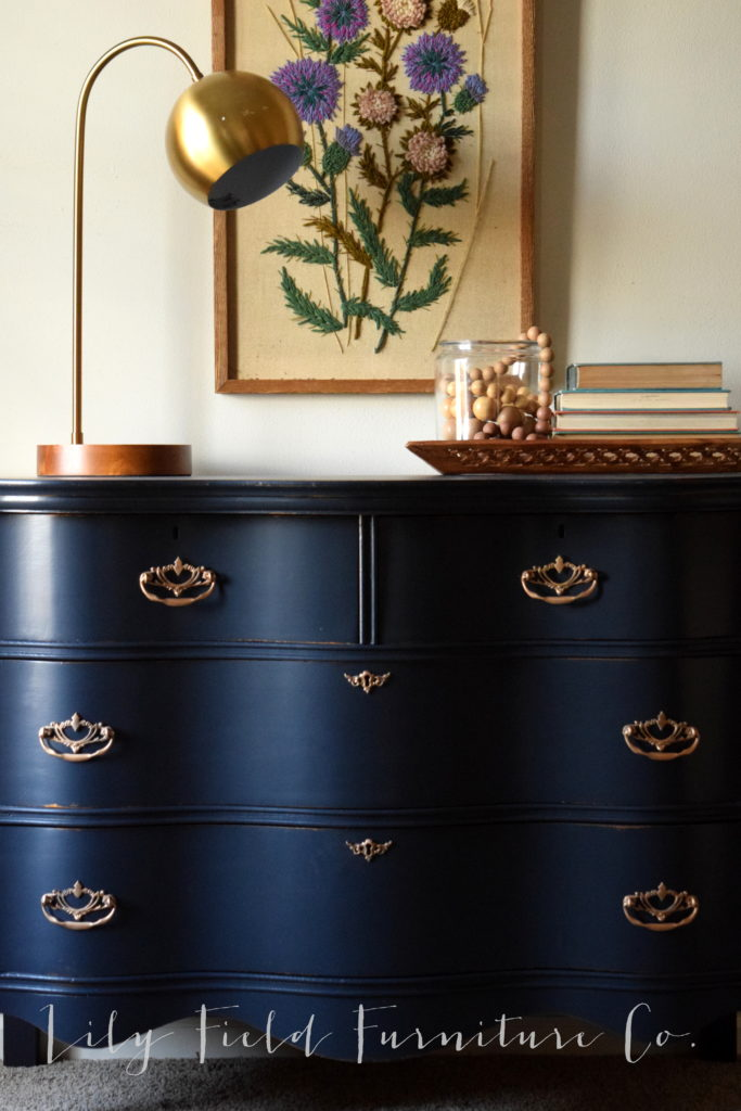 Use Rub n Buff on hardware to transform your dresser!