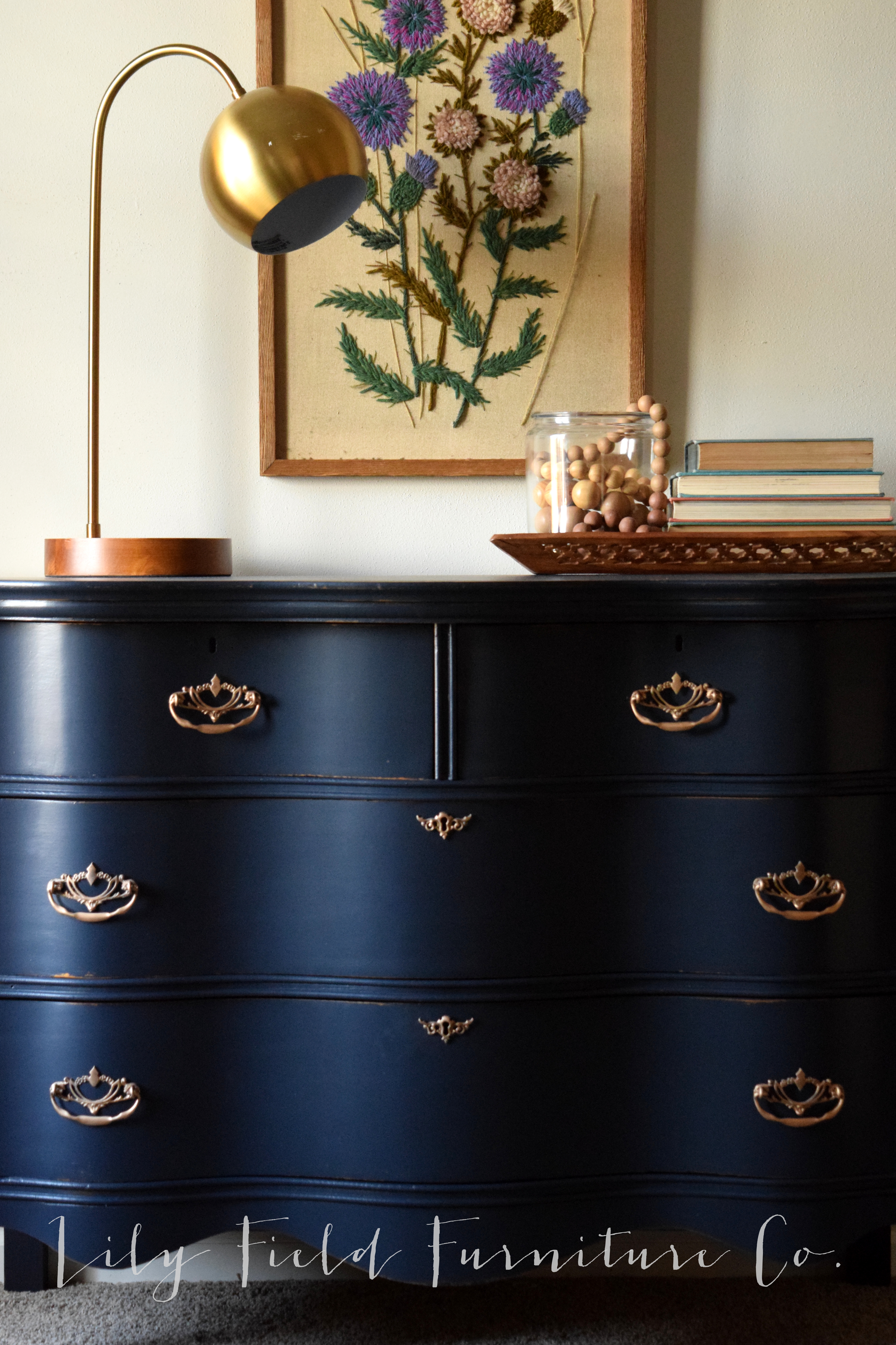 Navy Dresser Makeover Fusion Midnight Blue on Annie Sloan Painted Furniture With Paint