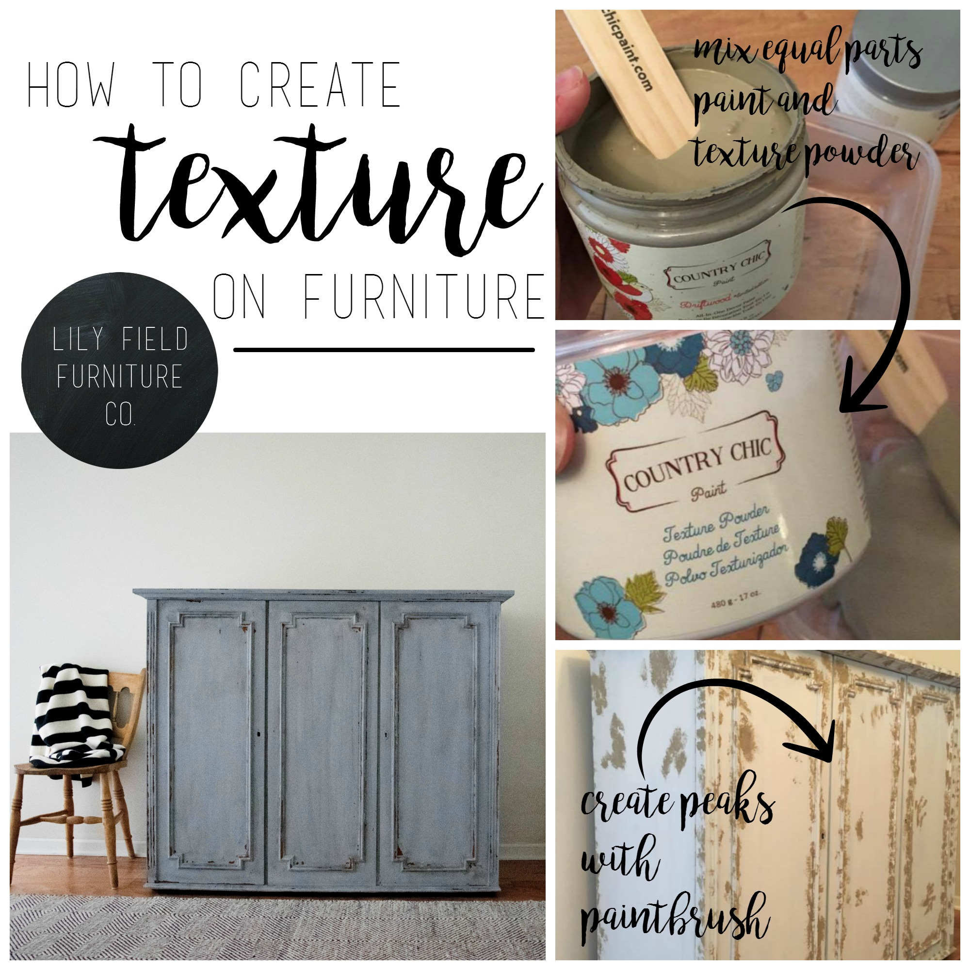Update furniture by creating texture and patina