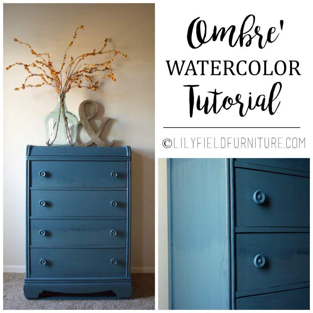 Easy to follow instructions for an ombre dresser!