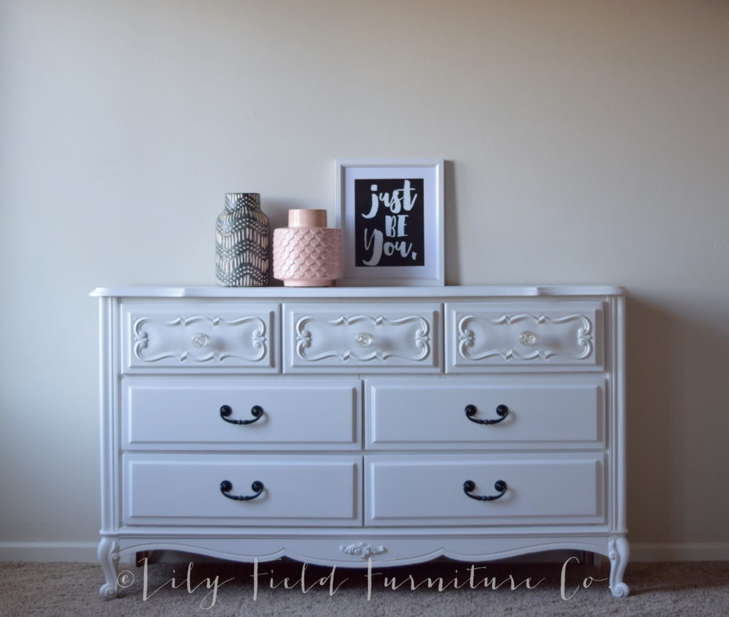Using White Paint to update furniture