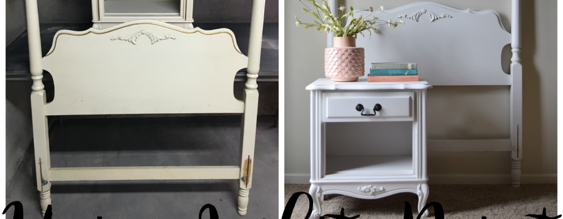 White paint for the win- Updating furniture