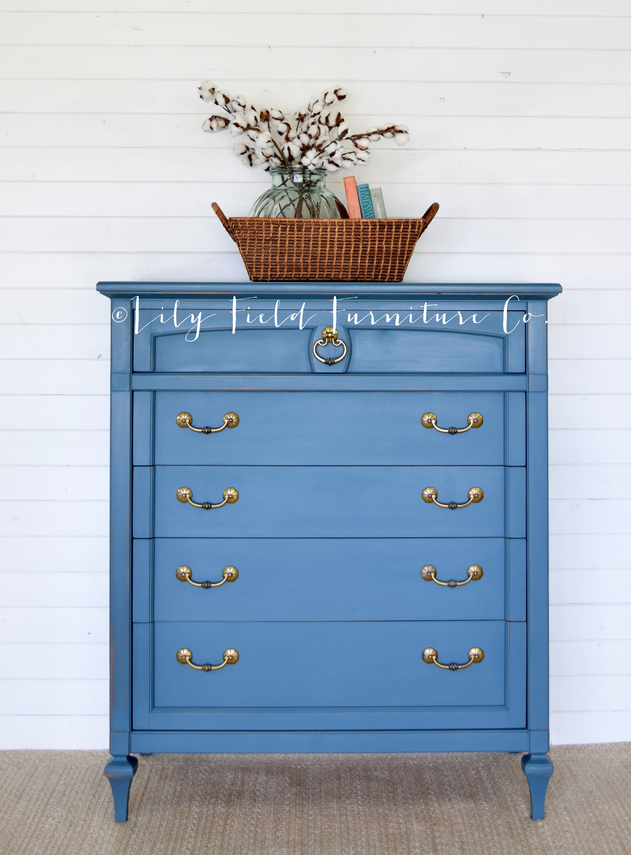Blue paint homestead blue for the win lily field co for Homestead furniture wax