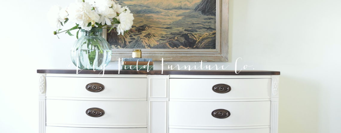 Fusion Mineral Paint Limestone Dresser Makeover