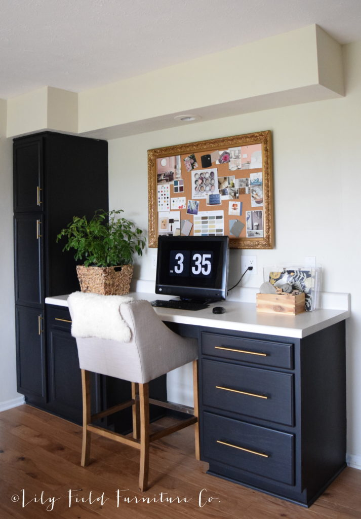 Black Kitchen Cabinets are timeless! Follow along for an easy to use tutorial on transforming your own kitchen cabinets!