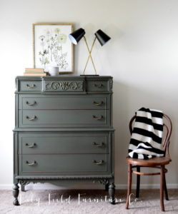 How to paint the perfect green dresser!