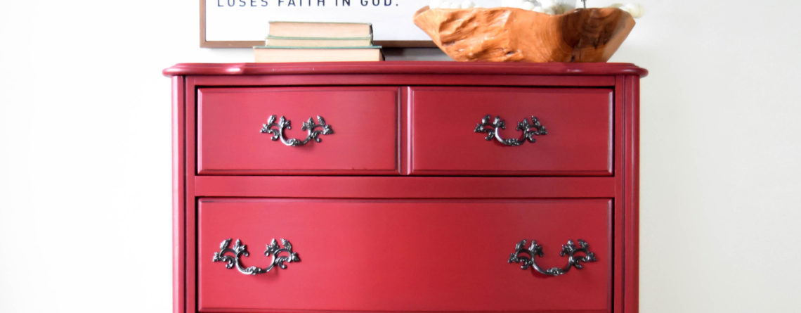 How to Paint the Perfect Red Dresser!