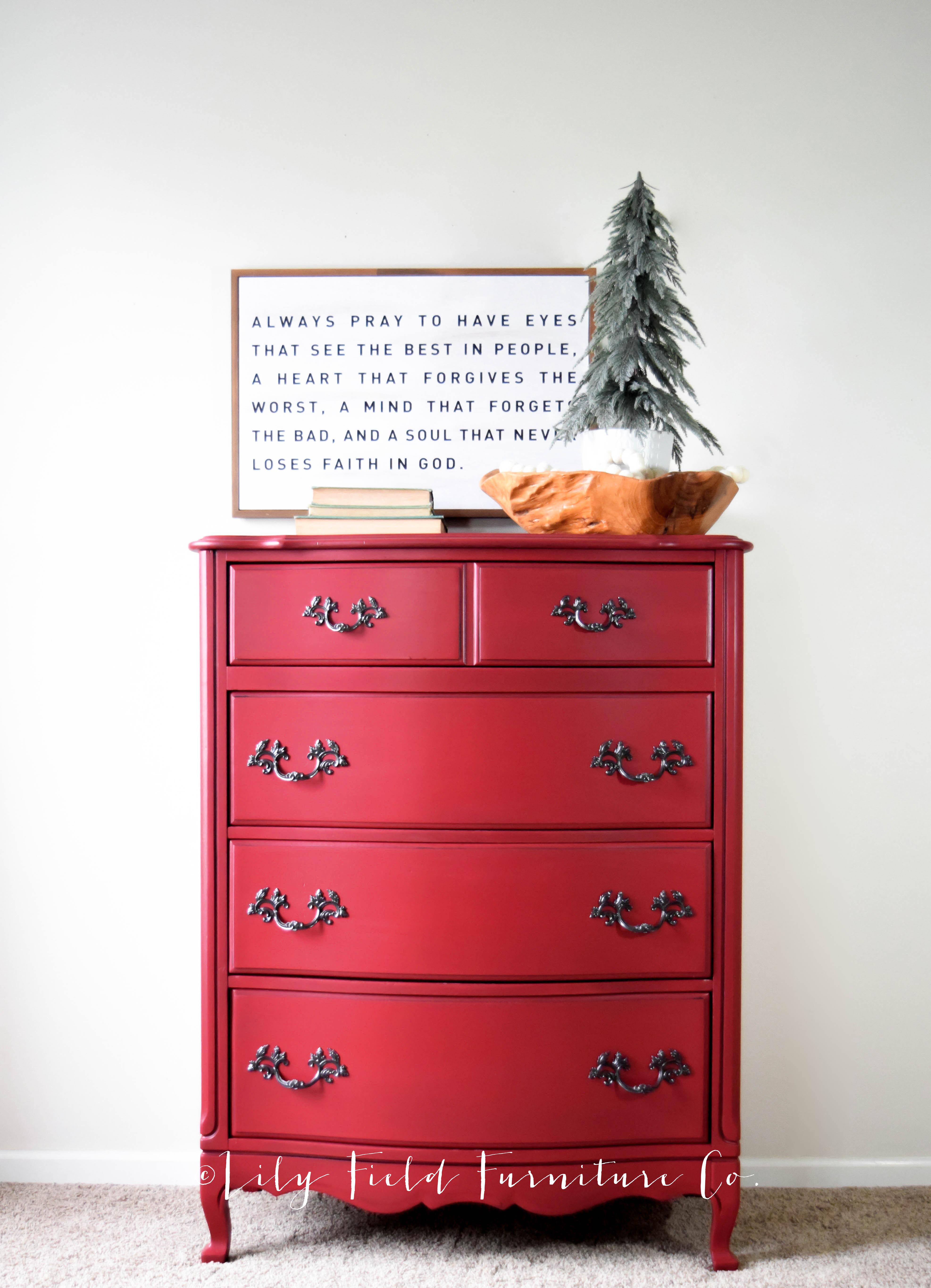 How To Paint The Perfect Red Dresser