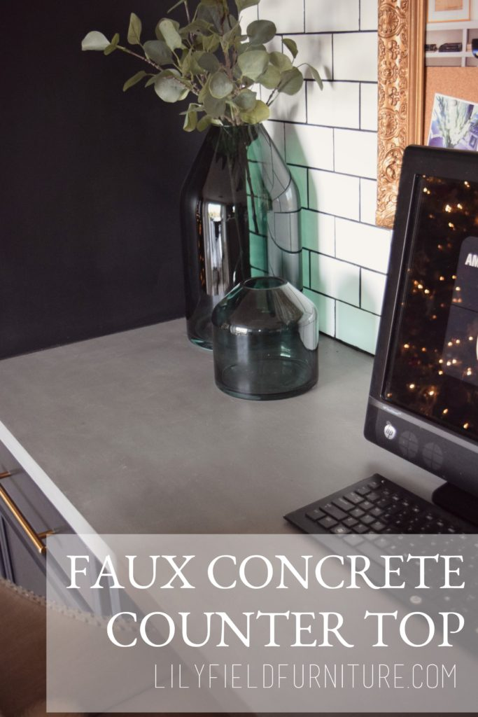 Faux Concrete Counter